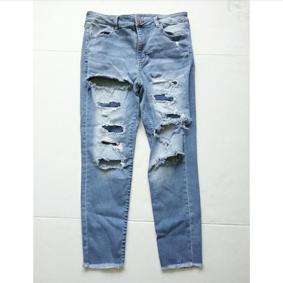 American Eagle Outfitters Denim - American Eagle Destroy Hi Rise Jegging Ankle Jean